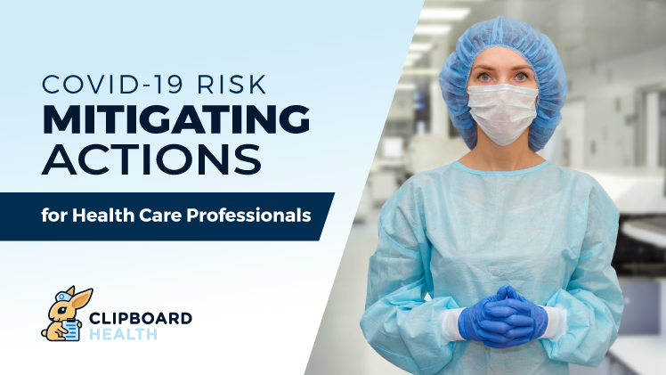 Read more about the article COVID-19 Risk Mitigating Actions for Health Care Professionals