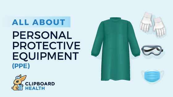 All About Personal Protective Equipmejnt (PPE) Graphic