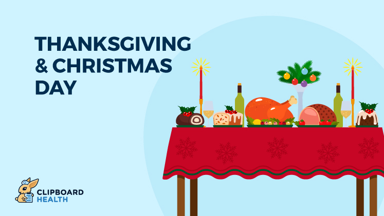 Thanksgiving and Christmas graphic